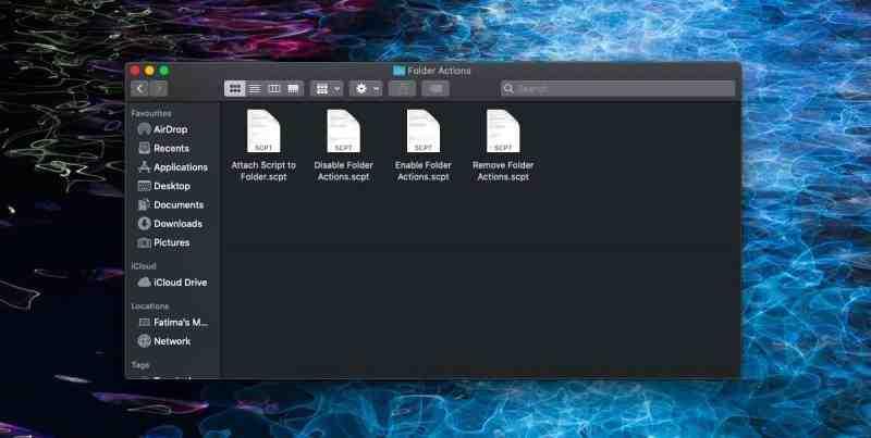Как удалить действие папки в macOS
