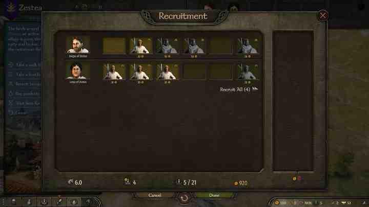 Mount and Blade 2 Bannerlord: солдаты - как набирать?