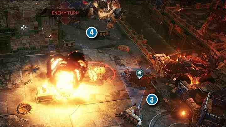 Босс может выполнять до 3 атак за каждый ход. Его ходы необычны - босс всегда делает ход и использует рукопашную атаку или стреляет из оружия и ракет, если у него есть такая возможность.