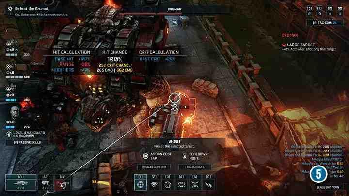 Во время атаки на босса начните с уничтожения орудий, установленных на руках Брумака. Босс больше не сможет их использовать. Оружие остается активным, даже если у него есть 1 очко здоровья.