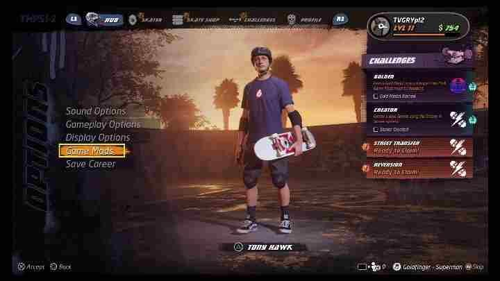 Tony Hawks Pro Skater 1 + 2: Читы - гайд
