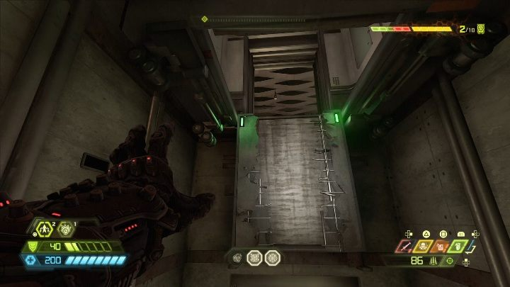 To get another heart you have to go up using climbing walls found in the elevator shaft - Doom Eternal: Final Sin secrets maps and location - Collectibles and secrets - Doom Eternal Guide