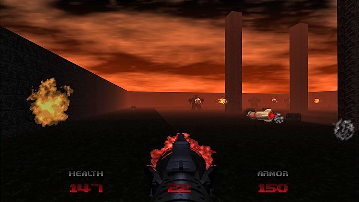 In the third part of the level, a group of Mancubus demons will appear - Doom Eternal: Doom 64 - list of trophies - Doom 64 - Doom Eternal Guide